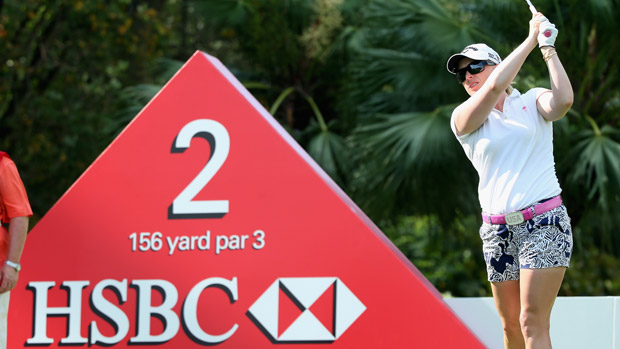 Morgan Pressel during the second round of the HSBC Women's Champions