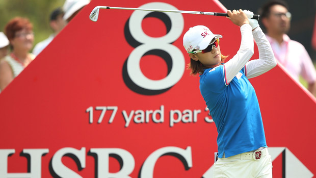 Na Yeon Choi during the third round of the HSBC Women's Champion