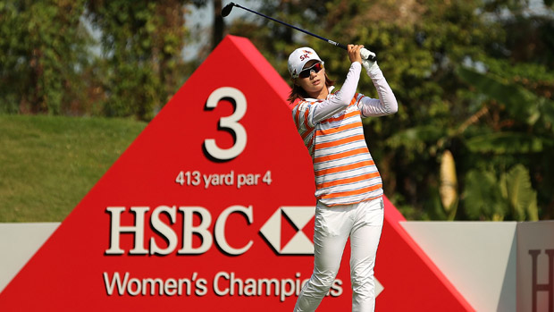 Na Yeon Choi during the final round of the HSBC Women's Champion