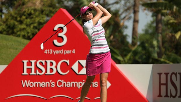 Paula Creamer during the final round of the HSBC Women's Champion
