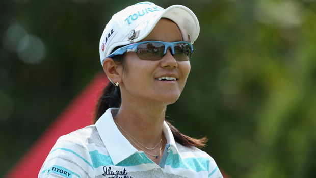 Ai Miyazato during the final round of the HSBC Women's Champion