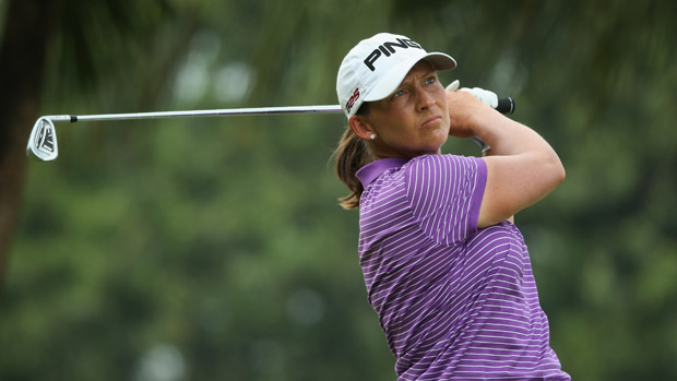 Angela Stanford during the third round of the HSBC Women's Champion