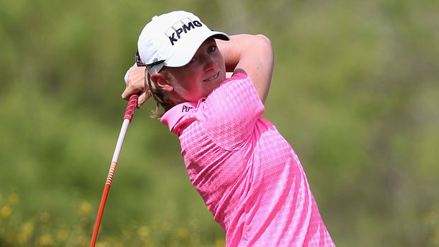 Stacy Lewis during the final round of the 2014 JTBC Founders Cup