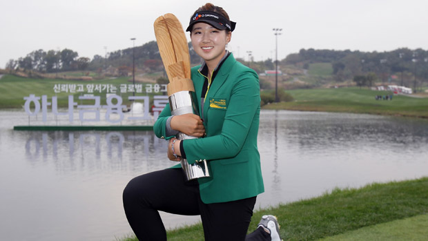 Kyu-Jung Baek during the final round of the LPGA KEB-HanaBank Championship