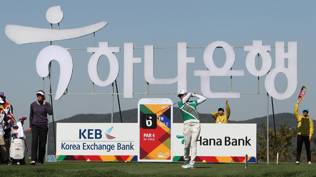 Na Yeon Choi during the first round of the LPGA KEB-HanaBank Championship