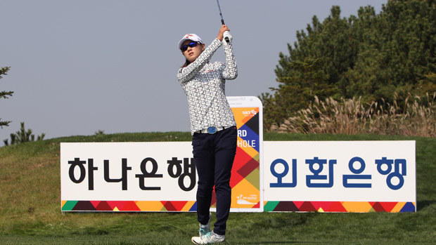 Na Yeon Choi during the third round of the LPGA KEB-HanaBank Championship