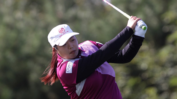 Shanshan Feng during the first round of the LPGA KEB-HanaBank Championship