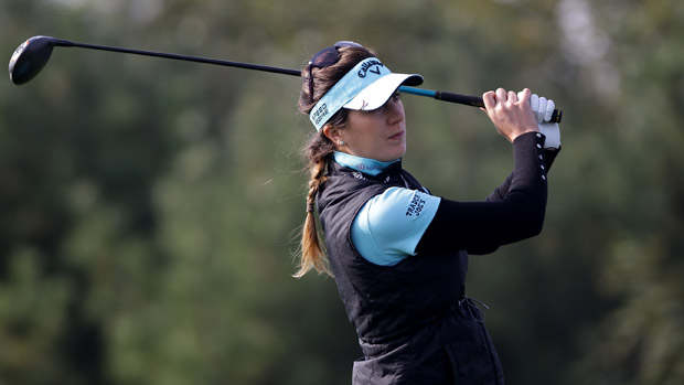 Sandra Gal during the first round of the LPGA KEB-HanaBank Championship
