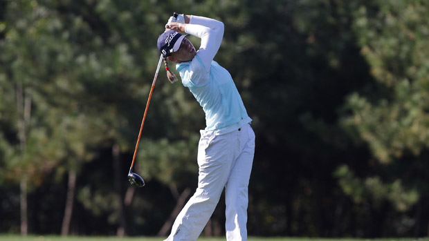 Karine Icher during the second round of the LPGA KEB-HanaBank Championship