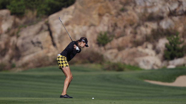 Kim Kaufman during the second round of the LPGA KEB-HanaBank Championship