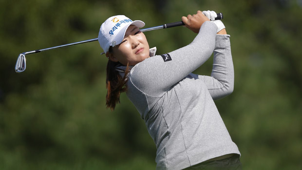 Mirim Lee during the first round of the LPGA KEB-HanaBank Championship
