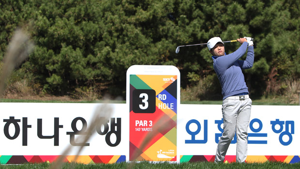 Haru Nomura during the first round of the LPGA KEB-HanaBank Championship