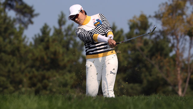 Se Ri Pak during the third round of the LPGA KEB-HanaBank Championship
