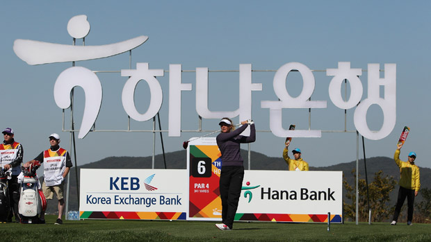 Suzann Pettersen during the first round of the LPGA KEB-HanaBank Championship