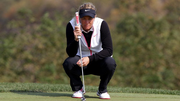 Suzann Pettersen during the third round of the LPGA KEB-HanaBank Championship