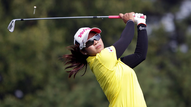 Pornanong Phatlum during the final round of the LPGA KEB-HanaBank Championship
