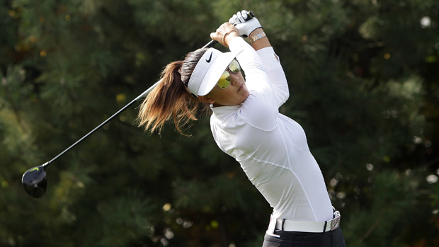 Michelle Wie during the final round of the LPGA KEB-HanaBank Championship