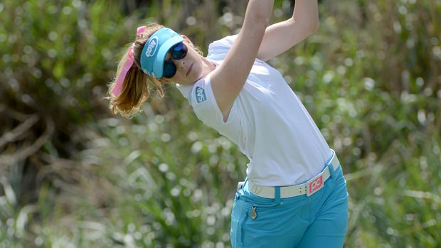 Paula Creamer during the second round of the Kia Classic
