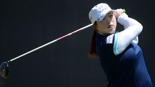 Shanshan Feng during the final round of the Kia Classic