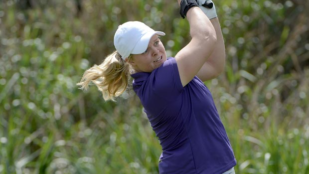 Caroline Hedwall during the second round of the Kia Classic