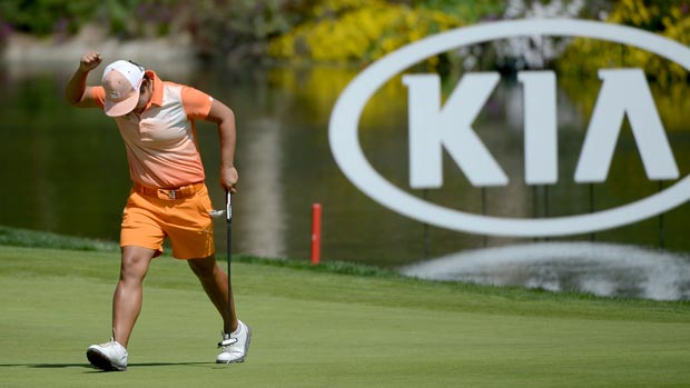 P.K. Kongkraphan during the third round at the Kia Classic