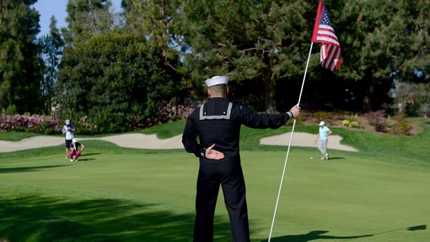 Military Day during the second round of the Kia Classic