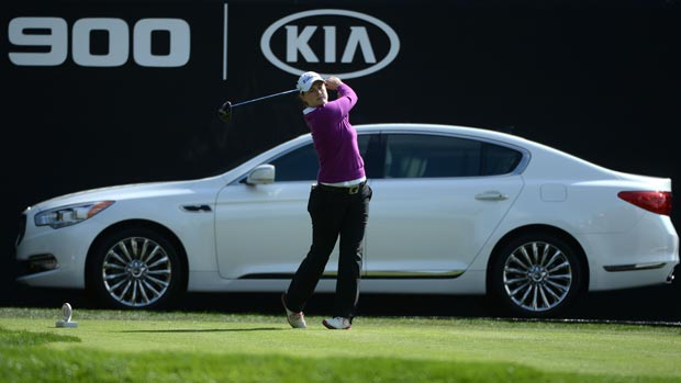 Caroline Masson during the first round of the Kia Classic