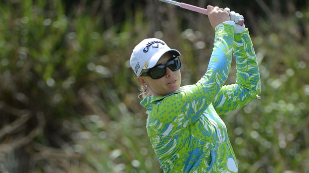 Morgan Pressel during the second round of the Kia Classic