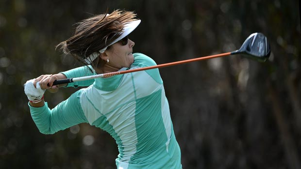 Mariajo Uribe during the third round at the Kia Classic