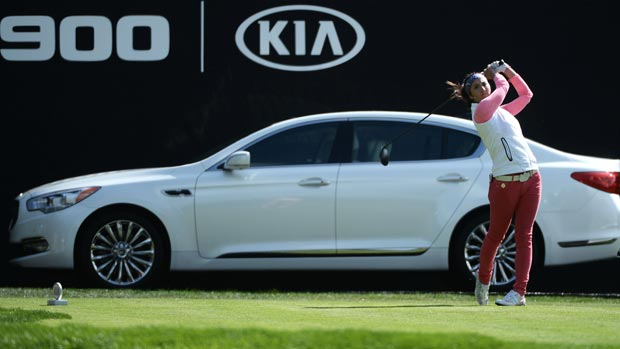 Kim Welch during the first round of the Kia Classic