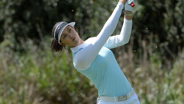 Michelle Wie during the first round of the Kia Classic