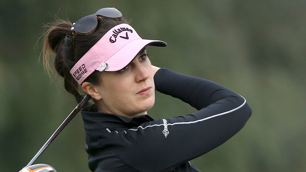 Sandra Gal during the second round of the 2014 Kraft Nabisco Championship