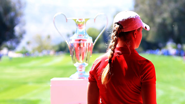 Charley Hull during the final round of the 2014 Kraft Nabisco Championship