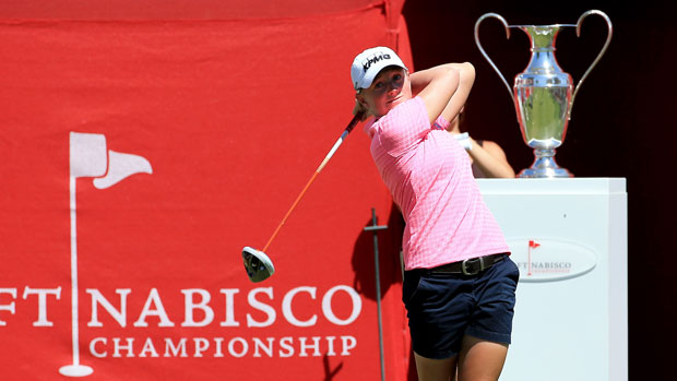 Stacy Lewis during the final round of the 2014 Kraft Nabisco Championship