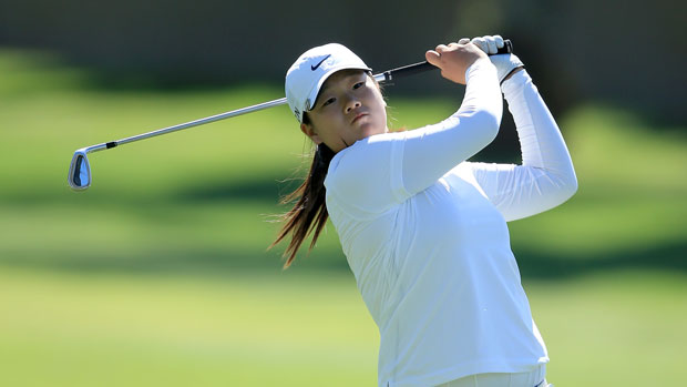 Angel Lin during the first round of the 2014 Kraft Nabisco Championship