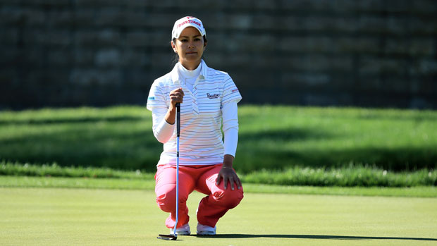 Ai Miyazato during the first round of the 2014 Kraft Nabisco Championship