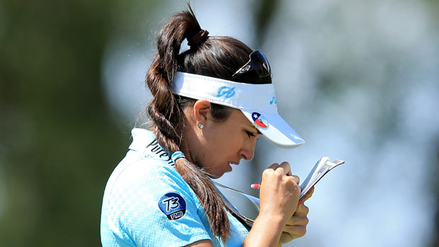 Gerina Piller during the third round of the 2014 Kraft Nabisco Championship