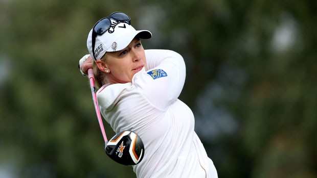 Morgan Pressel during the second round of the 2014 Kraft Nabisco Championship