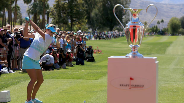 Lexi Thompson during the final round of the 2014 Kraft Nabisco Championship