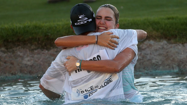 Lexi Thompson after winning the 2014 Kraft Nabisco Championship