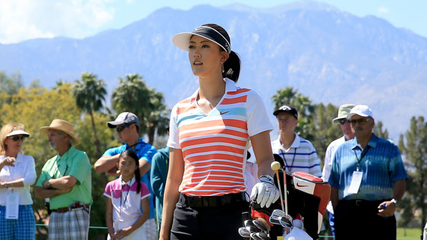 Michelle Wie during the third round of the 2014 Kraft Nabisco Championship