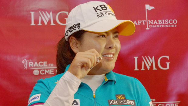 Inbee Park during Kraft Nabisco Championship Media Day