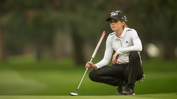 Paula Creamer during the third round of the Lorena Ochoa Invitational Presented by Banamex