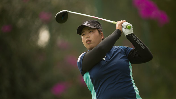 Shanshan Feng during the first round of the Lorena Ochoa Invitational Presented by Banamex