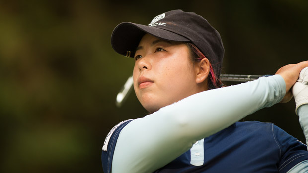 Shanshan Feng during the third round of the Lorena Ochoa Invitational Presented by Banamex