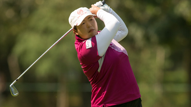 Shanshan Feng during the final round of the Lorena Ochoa Invitational Presented by Banamex