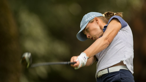 Karine Icher during the first round of the Lorena Ochoa Invitational Presented by Banamex