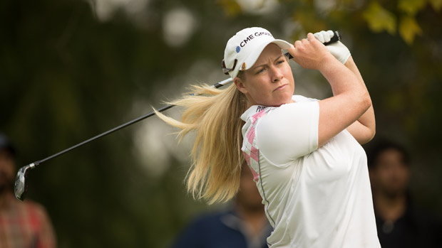 Brittany Lincicome during the first round of the Lorena Ochoa Invitational Presented by Banamex