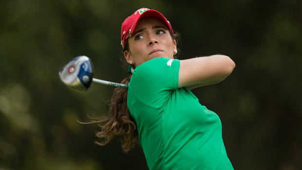 Gaby Lopez during the final round of the Lorena Ochoa Invitational Presented by Banamex