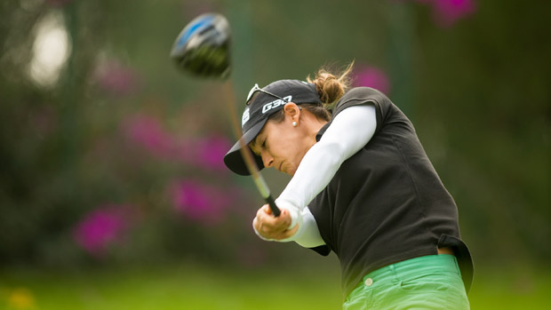 Azahara Munoz during the first round of the Lorena Ochoa Invitational Presented by Banamex